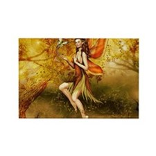 Fall Fairy Rectangle Magnet