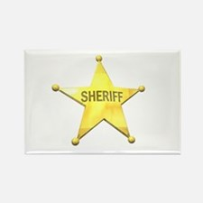 Sheriff Badge Rectangle Magnet