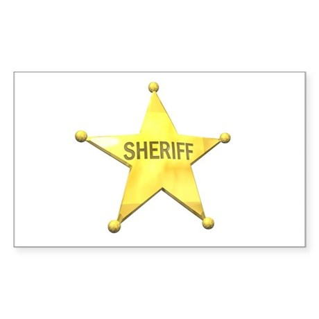 Sheriff Badge Rectangle Sticker