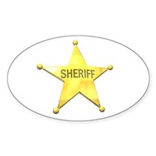 Sheriff Badge Oval Decal