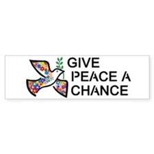 Give Peace a Chance Bumper Stickers