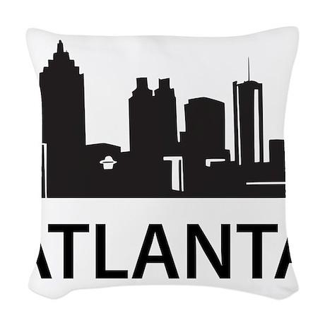 Atlanta Skyline Woven Throw Pillow