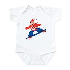 Funny Skateboarding Infant Bodysuit