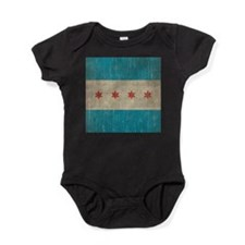 Vintage Chicago Flag Baby Bodysuit