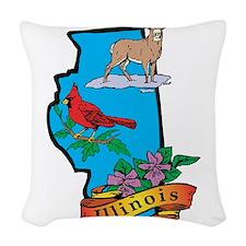 Illinois Woven Throw Pillow