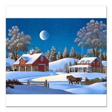 """Winters Glory Square Car Magnet 3"""" x 3"""""""