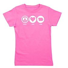 Peace Love Iowa Girl's Tee
