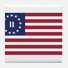 Flag of the Second American Revolution Tile Coaste