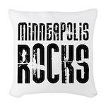 Minneapolis Rocks Woven Throw Pillow