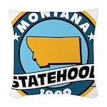 Montana Statehood Woven Throw Pillow