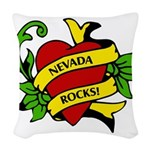 Nevada Rocks! Woven Throw Pillow