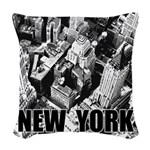 New York Woven Throw Pillow