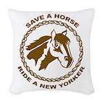 New Yorker Woven Throw Pillow