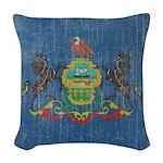Vintage Pennsylvania Flag Woven Throw Pillow