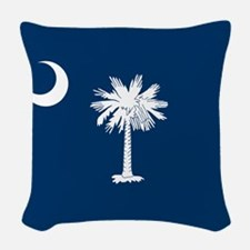 South Carolina Flag Woven Throw Pillow
