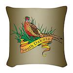 South Dakota Pheasant Woven Throw Pillow