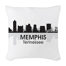 Memphis Skyline Woven Throw Pillow