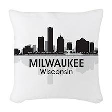 Milwaukee Skyline Woven Throw Pillow