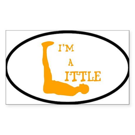 I'm a Little Tony Kornheiser Sticker Sticker (Rect
