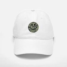 Green Camo Smiley Face Baseball Baseball Cap