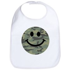 Green Camo Smiley Face Bib