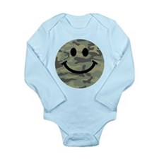 Green Camo Smiley Face Body Suit