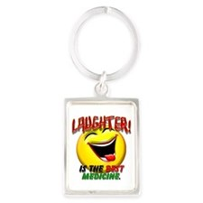 LAUGHTER IS THE BEST MED 1 pract flat.png Keychain