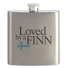 Flask - Loved by a Finn - Finnish Flag Design