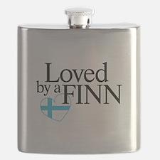 Flask - Loved by a Finn - Finnish Flag Design