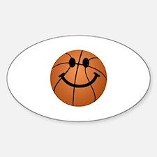 Basketball smiley face Decal