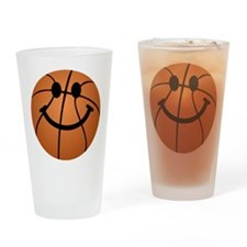 Basketball smiley face Drinking Glass