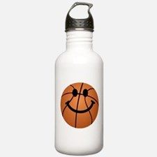 Basketball smiley face Sports Water Bottle