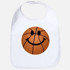 Basketball smiley face Bib