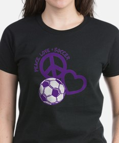 Peace, Love & Soccer T-Shirt
