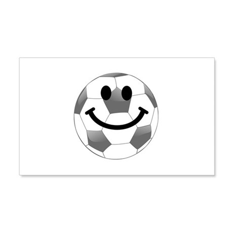 Soccer ball smiley face Wall Sticker