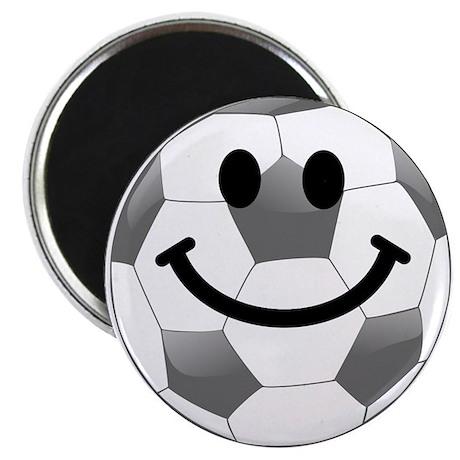 Soccer ball smiley face Magnet