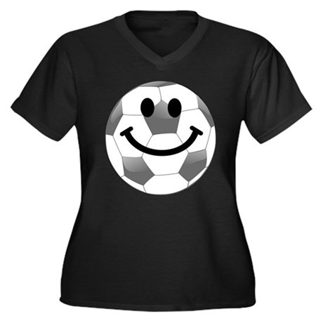 Soccer ball smiley face Plus Size T-Shirt