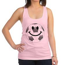 Soccer ball smiley face Racerback Tank Top
