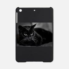 Black Cat With White Whiskers iPad Mini Case