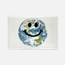 Happy earth smiley face Rectangle Magnet