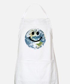 Happy earth smiley face Apron