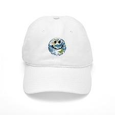 Happy earth smiley face Baseball Cap