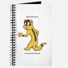 Basil the Ferret glancing Journal