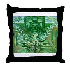 Olmec Were Jaguar Throw Pillow