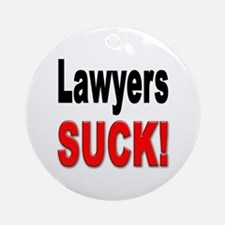 Lawyers Suck Ornament (Round)