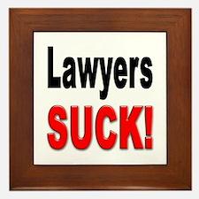 Lawyers Suck Framed Tile
