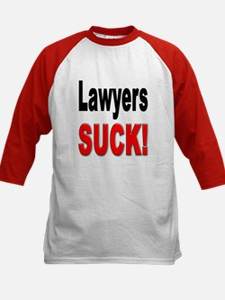 Lawyers Suck (Front) Kids Baseball Jersey
