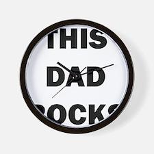 THIS DAD ROCKS Wall Clock