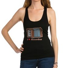 I Love Accordion Racerback Tank Top