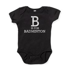 B is for Badminton Baby Bodysuit